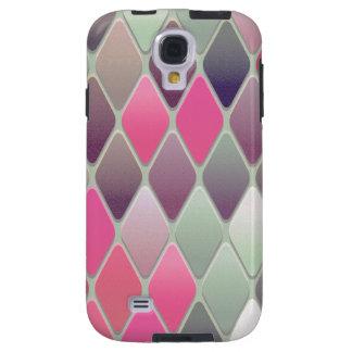 Funda Galaxy S4 Mosaico rosado del diamante