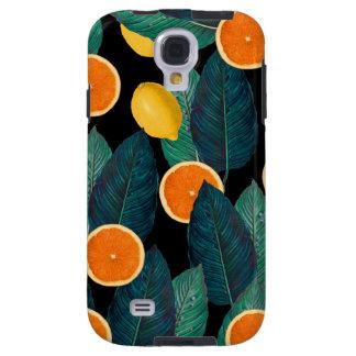 Funda Galaxy S4 negro de los limones y de los naranjas