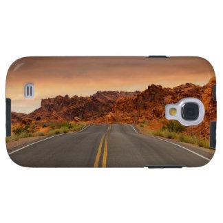 Funda Galaxy S4 Puesta del sol del viaje por carretera