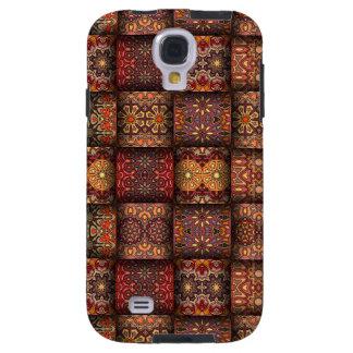 Funda Galaxy S4 Remiendo del vintage con los elementos florales de