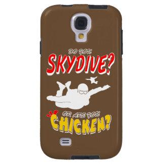 Funda Galaxy S4 ¿Skydive o pollo? (blanco)