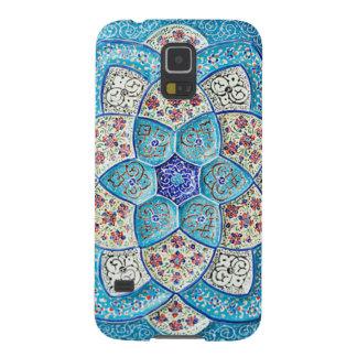 Funda Galaxy S5 Azules turquesas marroquíes tradicionales, blanco,