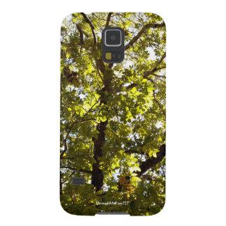 Funda Galaxy S5 Caja verde de la galaxia S5 del árbol de la