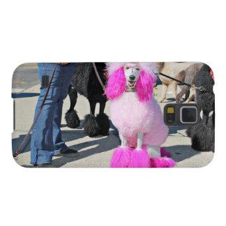 Funda Galaxy S5 Caniche estándar rosado del día 2016 del caniche -