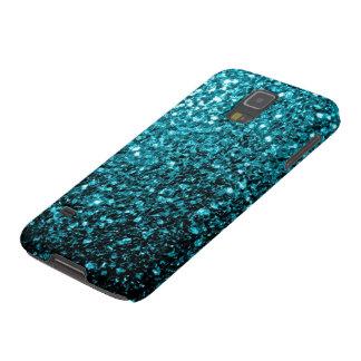 Funda Galaxy S5 El brillo azul de la aguamarina chispea la galaxia