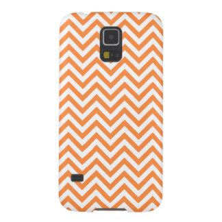Funda Galaxy S5 El zigzag anaranjado y blanco raya el modelo de