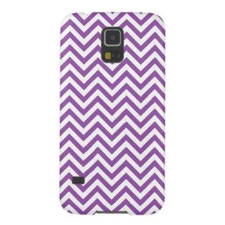 Funda Galaxy S5 El zigzag púrpura y blanco raya el modelo de