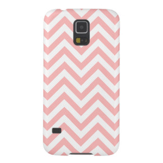 Funda Galaxy S5 El zigzag rosado y blanco raya el modelo de