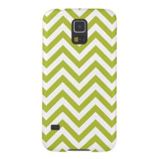 Funda Galaxy S5 El zigzag verde y blanco raya el modelo de Chevron