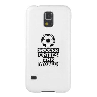 Funda Galaxy S5 fresco y tendiendo DISEÑOS del fútbol