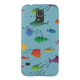 Funda Galaxy S5 Grupo colorido de pescados subacuáticos