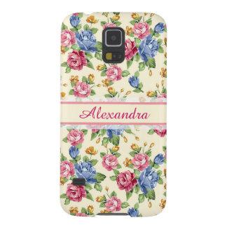 Funda Galaxy S5 Rosa romántico en colores pastel del flor, rojo,