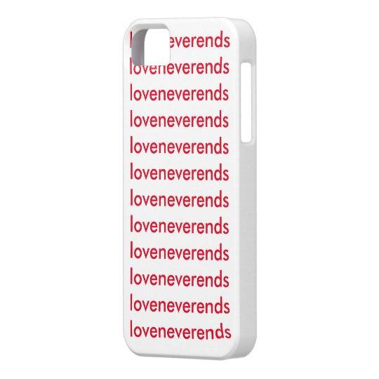 "Funda i phone ""love never ends"""