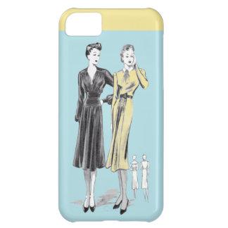 Funda iPhone 5C Impresión del diseñador de moda del vintage de las