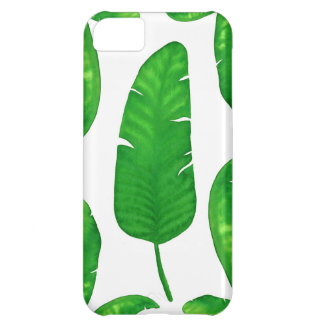 Funda iPhone 5C iPhone tropical 5C del iPhone de las hojas de