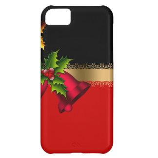 Funda iPhone 5C Oro negro rojo de Belces del día de fiesta de las