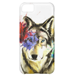 Funda iPhone 5C Salpicadura del lobo