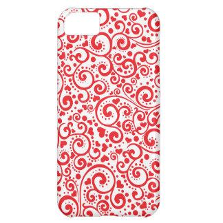 Funda iPhone 5C Tarjetas del día de San Valentín - corazones rojos