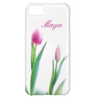 Funda iPhone 5C Tulipanes - caso del iPhone 5C