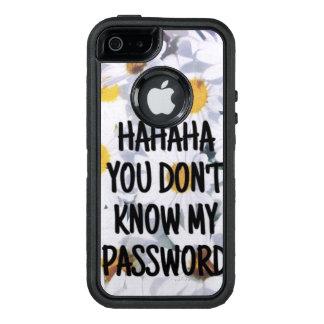 Funda iPhone: hahaha you don´t know my password