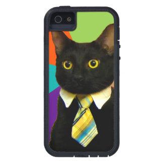 Funda iPhone SE/5/5s gato del negocio - gato negro