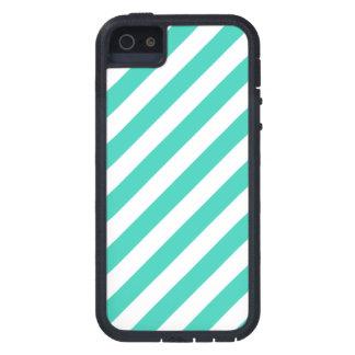 Funda iPhone SE/5/5s Trullo y modelo diagonal blanco de las rayas