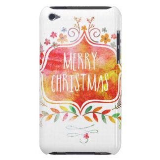 Funda iPod Felices Navidad retras de la acuarela