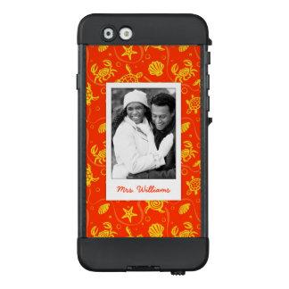 Funda NÜÜD De LifeProof Para iPhone 6 Añada su modelo anaranjado de la playa de la foto