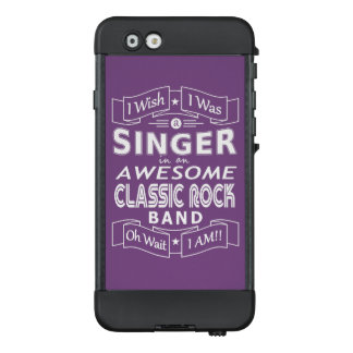 Funda NÜÜD De LifeProof Para iPhone 6 Banda de rock clásica impresionante del CANTANTE