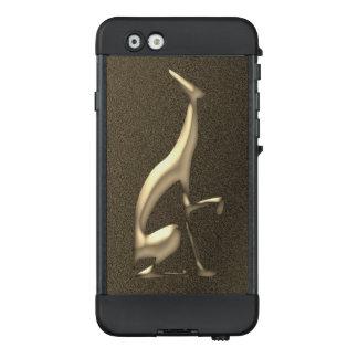 Funda NÜÜD De LifeProof Para iPhone 6 De oro italianos del galgo graban en relieve la