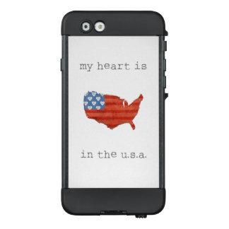 Funda NÜÜD De LifeProof Para iPhone 6 El   americana mi corazón está en el mapa de los