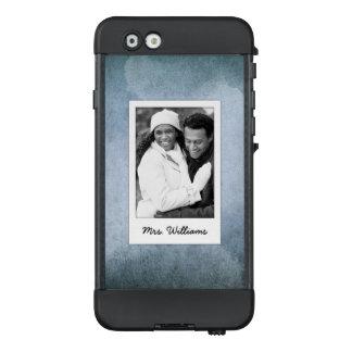 Funda NÜÜD De LifeProof Para iPhone 6 El papel azul y negro viejo el | de la acuarela