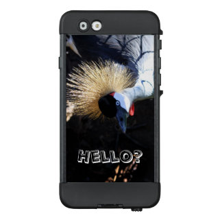 Funda NÜÜD De LifeProof Para iPhone 6 Grúa coronada curiosa que contesta al teléfono