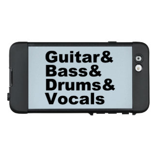Funda NÜÜD De LifeProof Para iPhone 6 Guitar&Bass&Drums&Vocals (negro)