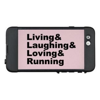 Funda NÜÜD De LifeProof Para iPhone 6 Living&Laughing&Loving&RUNNING (negro)