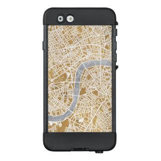 Funda NÜÜD De LifeProof Para iPhone 6 Mapa dorado de la ciudad de Londres
