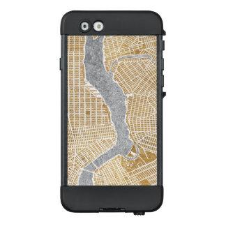 Funda NÜÜD De LifeProof Para iPhone 6 Mapa dorado de la ciudad de Nueva York