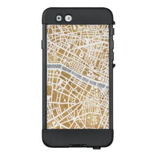 Funda NÜÜD De LifeProof Para iPhone 6 Mapa dorado de la ciudad de París