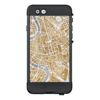 Funda NÜÜD De LifeProof Para iPhone 6 Mapa dorado de la ciudad de Roma