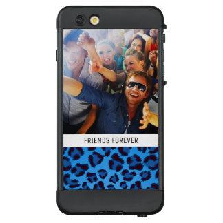 Funda NÜÜD De LifeProof Para iPhone 6 Plus Añada su textura azul del leopardo de la foto el |