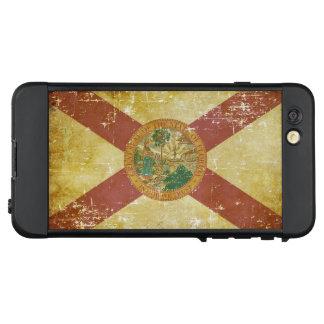 Funda NÜÜD De LifeProof Para iPhone 6 Plus Bandera patriótica de papel gastada del estado de
