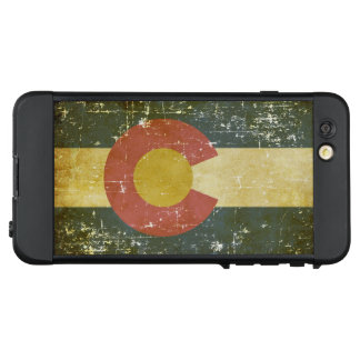 Funda NÜÜD De LifeProof Para iPhone 6 Plus Bandera patriótica gastada del estado de Colorado