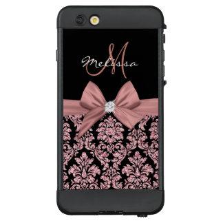 Funda NÜÜD De LifeProof Para iPhone 6 Plus Damasco color de rosa del negro del purpurina del