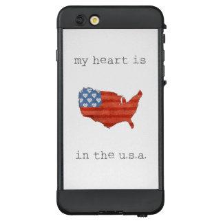 Funda NÜÜD De LifeProof Para iPhone 6 Plus El | americana mi corazón está en el mapa de los