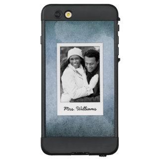 Funda NÜÜD De LifeProof Para iPhone 6 Plus El papel azul y negro viejo el | de la acuarela