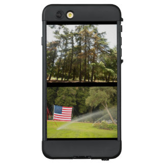 Funda NÜÜD De LifeProof Para iPhone 6 Plus la arboleda de árboles y la bandera en mil aks