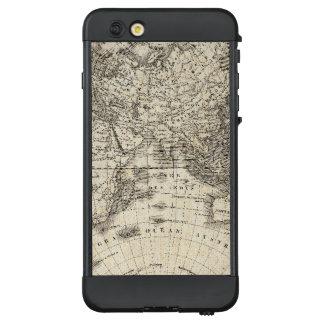 Funda NÜÜD De LifeProof Para iPhone 6 Plus Mapa del vintage de Europa y de Asia