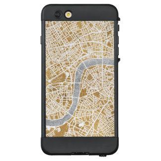 Funda NÜÜD De LifeProof Para iPhone 6 Plus Mapa dorado de la ciudad de Londres