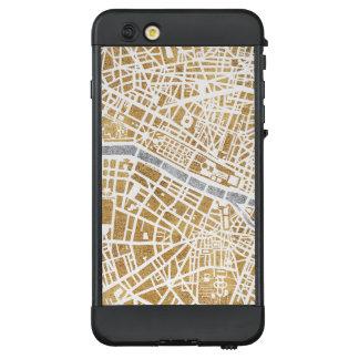 Funda NÜÜD De LifeProof Para iPhone 6 Plus Mapa dorado de la ciudad de París