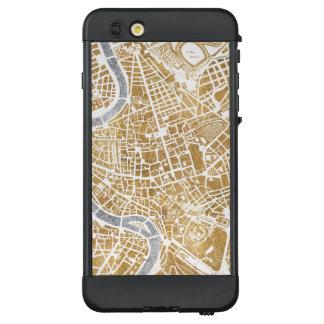 Funda NÜÜD De LifeProof Para iPhone 6 Plus Mapa dorado de la ciudad de Roma